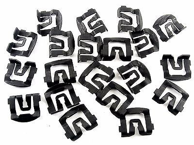 1965-1993 Ford Windshield & Rear Window Trim Molding Clips- Qty.20 Clips- #026