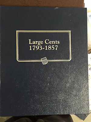 Collection  Of 25 U.s. Large Cents 1819-1856 In Album-Filler/cull Coins #50