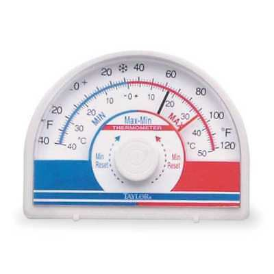 TAYLOR 5422 Analog Thermometer, -40 to 120 Degree F