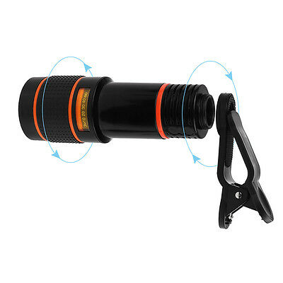 Clip-on 12x Zoom Optical Telescope Camera Lens Universal for iPhone Smartphone
