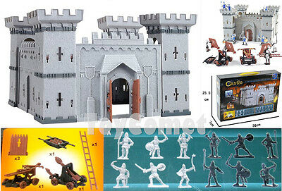 Castle Knights Catapult Medieval Toy Soldiers Figures & Accessories Box Set A