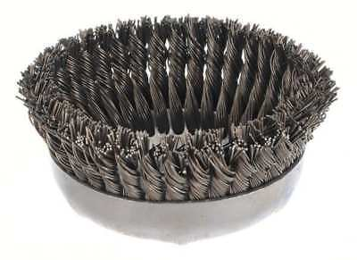 """Weiler Knot Wire Cup Wire Brush, Threaded Arbor, 6"""", 12396"""