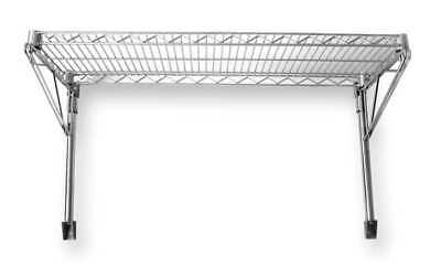 Wall Mounted Wire Shelving, Chrome , 2HGD2