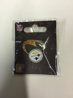 Brand New Sealed Rare Official NFL Pittsburgh Steelers Glitter Trail Pin Badge