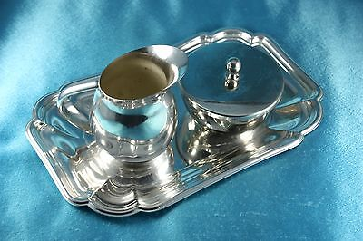 Kirk Silver Plate Coffee and Creamer, International Silver Co Silver Plate Tray