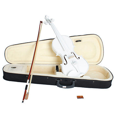 New Student Kids  4/4 Full Size White Acoustic Violin  With Cases UK