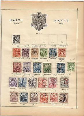 Old Haiti Collection of different Stamp 12 Vintage Album Pages ***SAVE $125***
