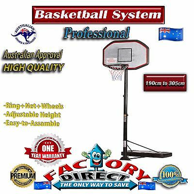 Professional  Basketball System Ring Stand Portable Pro Adjustable Hoop Outdoor