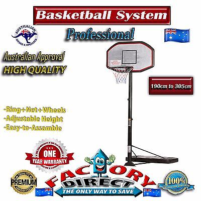 Professional Portable Adjustable Basketball System Ring Stand Hoop Outdoor