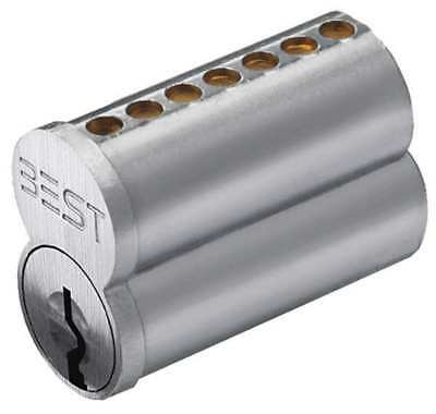Interchangeable Core, Satin Chromium Plated, Keyway Type A BEST 1C7A1626