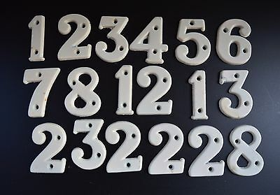 18 Vintage Door Numbers Bakelite Type of Plastic c1950