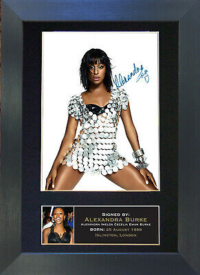 ALEXANDRA BURKE Signed Mounted Autograph Photo Prints A4 231