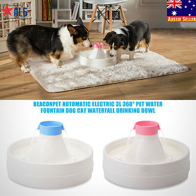 Electric Automatic 3L 360° Pet Water Fountain Dog Cat Waterfall Drinking Bowl