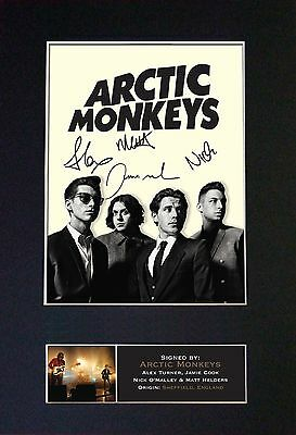 ARCTIC MONKEYS Signed Mounted Autograph Photo Prints A4 186