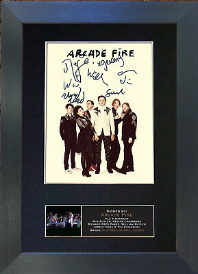 ARCADE FIRE Signed Mounted Autograph Photo Prints A4 410