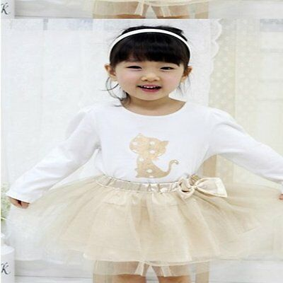 Gold Cat Girls Outfit with Tutu Skirt. FREE shipping within the UK!