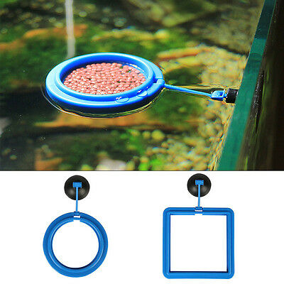 AU Square Circle Feeding Ring Aquarium Fish Tank Station Floating Food Feeder