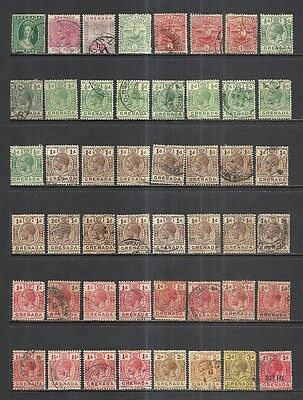 GRENADA: MINT & USED LOT - QUEEN VICTORIA to QUEEN ELIZABETH - 3 DISPLAY PAGES