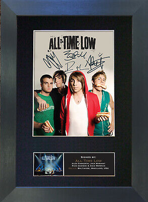ALL TIME LOW Signed Mounted Autograph Photo Prints A4 426