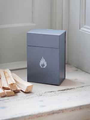 Garden Trading Fire Lighter Steel Storage Box - Charcoal