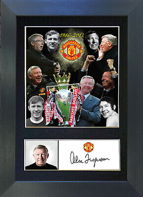 ALEX FERGUSON Man Utd Signed Mounted Autograph Photo Prints A4 343