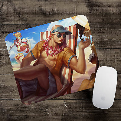 Pool Party Lee Sin Mousepad League of Legends mouse pad LoL gamer playmat