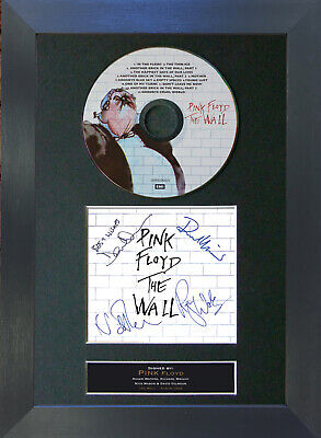 PINK FLOYD The Wall Signed CD Mounted Autograph Photo Prints A4 13