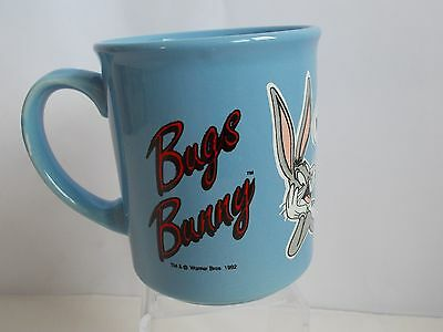"""Warner Loony Tunes Bugs Bunny Mug """"what's Up Doc?"""" Blue Made In Britain"""