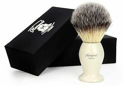 Synthetic  (Badger looking ) Hair Shaving Brush with Ivory Handle/Base. For HIM
