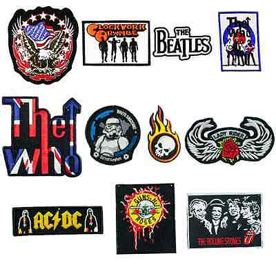 The Who Set Sew Embroidery Iron On Patch Badge Clothes Fabric Applique