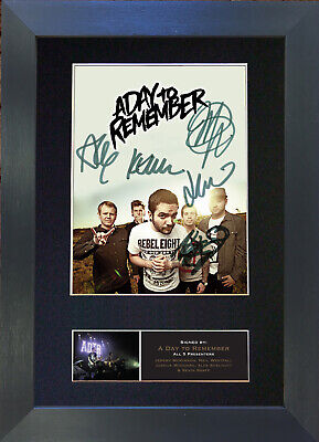 A DAY TO REMEMBER Signed Mounted Autograph Photo Prints A4 529