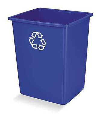 "25-1/2"" Stationary Recycling Container, Rubbermaid, FG256B73BLUE"