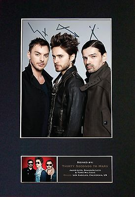 30 SECONDS TO MARS Signed Mounted Autograph Photo Prints A4 435