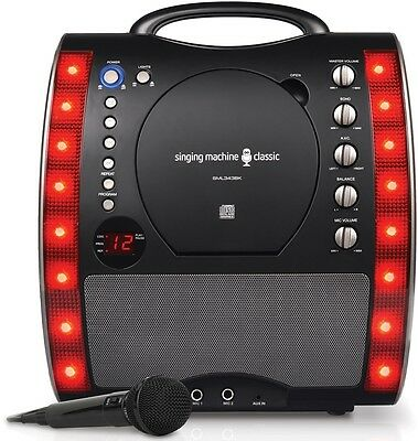 Singing Karaoke Machine Black system Microphone Echo Control Built-in speaker