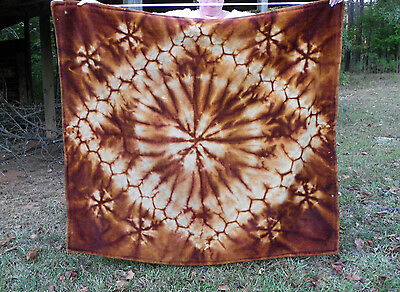"""Vtg or Antique """"Chase"""" Carriage or Sleigh Blanket-Abstract Brown & Tan Design"""