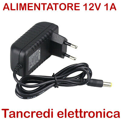 Alimentatore 12V 1A DC switching led videosorveglianza telecamera power supply
