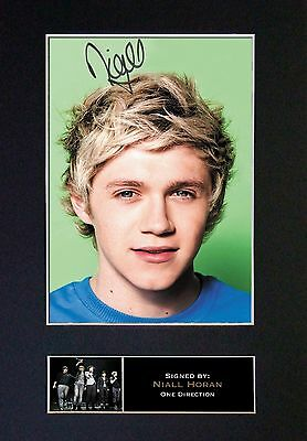 NIALL HORAN No2 One Direction Signed Mounted Autograph Photo Prints A4 316