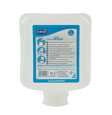 DEB Clear Foam Wash - 1 Litre