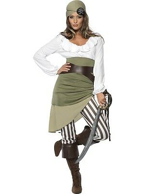 Adult Womens Shipmate Sweetie Costume Caribbean Pirate Fancy Dress - 3 Sizes
