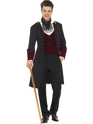 Adult Male Male Fever Gothic Vampire Costume Halloween Costume - 2 Sizes