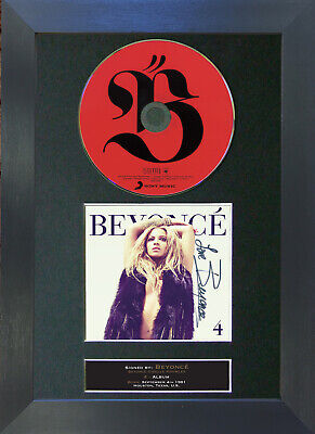 BEYONCE 4 Signed CD Mounted Autograph Photo Prints A4 1