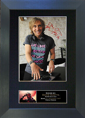 DAVID GUETTA Signed Mounted Autograph Photo Prints A4 147