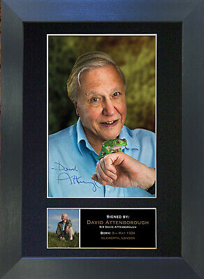 DAVID ATTENBOROUGH Signed Mounted Autograph Photo Prints A4 339
