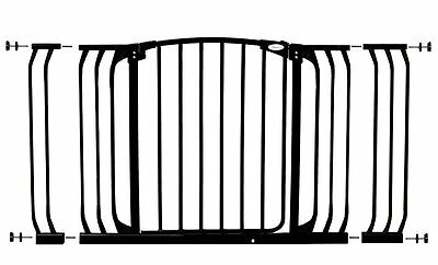 Dreambaby Value Pack Hallway Safety Gate Black with 9cm and 18cm Extensions