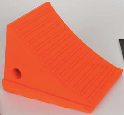 MONSTER MOTION SAFETY BY CHECKERS UC1700 Wheel Chock,6-1/4 In H,Urethane,Orange