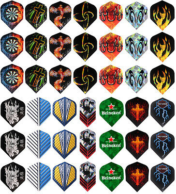 72 pcs of Dart Flights in 24 Patterns Darts Feather Fin Accessory Gift Wrapping