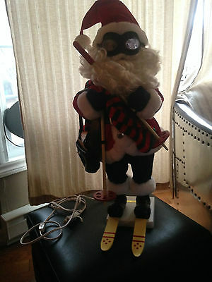 Telco animated motion-ette Santa with cross country skis