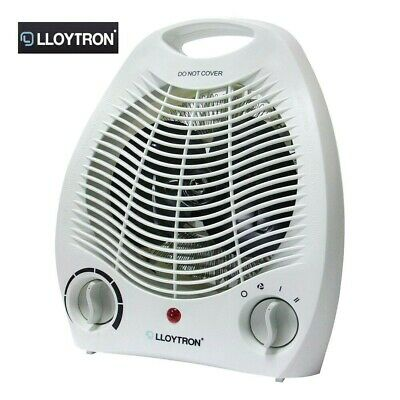 Lloytron F2001WH 2000Kw Upright Electric Fan Heater White - NEW