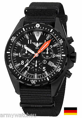 KHS Watch Missiontimer 3 Operation Timer H3 Chronograph Army Band KHS.MTAOTC.NB