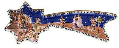 """Gold Embossed Shooting Star Nativity Scene Stand Decoration 6""""L from Italy"""